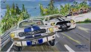 tableau sport voitures course personnage route : Conflit de générations