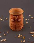 deco design verre en ceramique vase ethnique vaisselle d arg ceramique decorative : Vase d'argile pour fleurs séchées