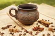 ceramique verre tasse d argile tasse enduite de lai tasse ceramique tasse faite ,a main : Tasse céramique à thé