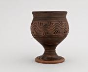 ceramique verre verre ,a pied gobelet en ceramique fait main ceramique : Verre à vin céramique