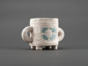 ceramique verre decoration de bureau tasse en ceramique ,p ceramique faite ,a la vaisselle : Tasse décorative à deux anses
