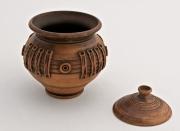 ceramique verre pot ceramique decoration interieur pot decoratif vaisselle design : Pot céramique avec couvercle