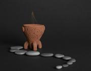 deco design vase aux decors ethn vase d argile vase d argile ceramique decorative : Vase d'argile décoratif