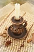 ceramique verre bougie ,a support bougeoir en ceramiqu decoration de maison design : Bougeoir en céramique fait à la main