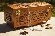 bois marqueterie coffret en bois bijouterie fait ,a la main coffrets : Coffret grand en bois