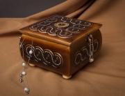bois marqueterie ecrin en bois sculpt boite sculptee en bo artisanale bois marquete : Boîte en bois sculpté à bijoux