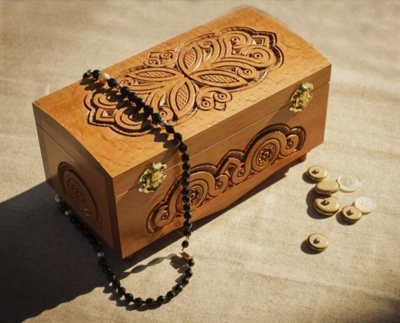 BOIS, MARQUETERIE boîte en bois coffret pour bijoux boîte à musique ciselé à main  - Boîte à bijoux en bois