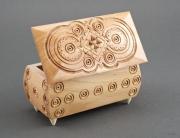 bois marqueterie boite coffret rectangle cadeau : Boîte à bijoux faite à main