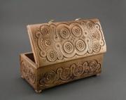 bois marqueterie coffret sculpte fait ,a la main coffret ,a accessoires : Coffret en bois incrusté