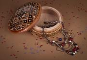bois marqueterie coffret pour bijoux gravure artisanale coffret rond cisele ,a main : Boîte à bijoux ronde incrustée