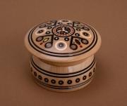 deco design coffret ,a bijoux boite ,a bijoux coffret artisanal coffret en bois : Coffret fait main rond original