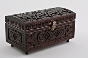 bois marqueterie coffret artisanal bois incruste pour cadeau : Coffret sculpté en bois