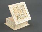 bois marqueterie fait main boite ebauche decoupage cadeau : Boîte en bois