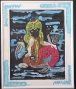 tableau eau bleu reve femme : sirene