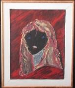 tableau personnages portrait couleur femme cadre : couleurs du monde