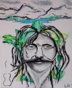 tableau personnages artiste chanteur poete interprete : FERRAT
