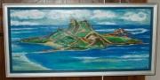 tableau paysages mer paysage ile pacifique : ile mystérieuse