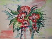 dessin fleurs pavot fleur vase nat : pavot