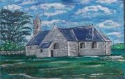 artisanat dart architecture chapelle pierre foret arbre : brasparts
