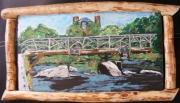 tableau paysages pont riviere eau nature : pont de PONT AVEN