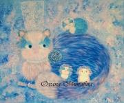 """tableau animaux peinture acrylique chat bretagne breton : Peinture acrylique """"Minoudène et ses bébés"""" 65 cm * 54 cm sur to"""