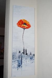 New york une fleur en hommage aux disparus des 2 tours