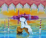 tableau autres venise italie huile romantisme : Venise magique et féerie