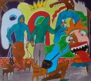 dessin personnages encre graffitis tagueur : Les tagueurs