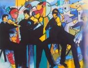 dessin personnages musique musiciens encre : Concerto