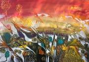 tableau autres fleurs couleurs chaudes unique bau tableau tres col : EXOCHORDA