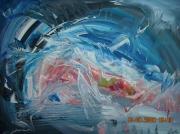 tableau abstrait ocean ciel et mer altitude puissance d emotion : COSMOS