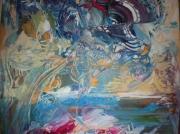 tableau abstrait multicolores abstrait unique beau : Eclipse Lunaire