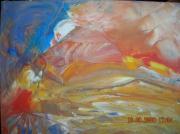 tableau abstrait plage et ocean mer et sable soleil unique : LE RECIF CORALLIEN