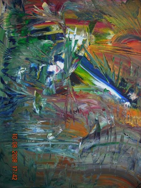 TABLEAU PEINTURE Surprenant irisé COLORE UNIQUE Abstrait  - L'EXOFLEUR