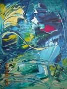 tableau abstrait verdoyant imagee inventif renversant : MERIDIENNE