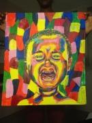 tableau personnages enfant pleure couleurs portrait : Larmes
