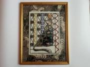 artisanat dart animaux chat klimt pierres swarovski : Chat rêveur inspiré de Klimt