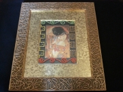 artisanat dart personnages baiser klimt strass swarovski : Baiser de Klimt revisité