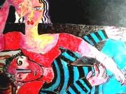 tableau personnages peintre et mod : Peintre e sa modele
