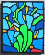 tableau abstrait acrylique tableau bretagne mer : Tregunc