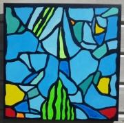 tableau abstrait acrylique tableau mer bretagne : Bretagne