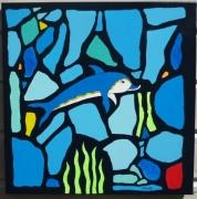 tableau abstrait acrylique tableau cnossos mer : Cnossos