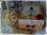 bijoux autres boite shabby romantique creation : Boîte à bijoux ou boîte à couture romantique