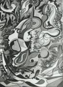 painting abstrait : mouvement n°12