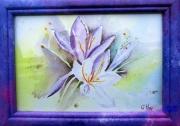tableau fleurs fleurs lys : Lys blancs