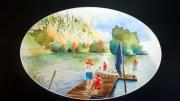 tableau paysages haute savoie lac de la balme de s navigateurs : Lac de la Balme de Sillingy