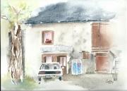 tableau architecture haute savoie la balme de sillingy cafe du hameau : Café des Platanes