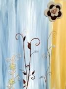 tableau fleurs fleurs art moderne deco : Fleur art moderne
