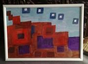 tableau abstrait cubes orange technologie ovnis : technologies d ici ou d ailleur