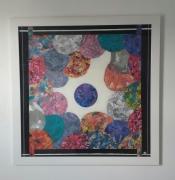 tableau abstrait : bulles